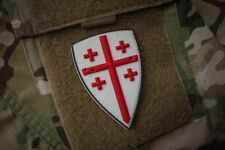 Warriors Of Old Crusader Shield 3D PVC Morale Patch Moeguns Infidel Templar