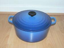 Le Creuset Graduated Blue Cast Iron Round Casserole  -  26 cm