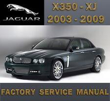 JAGUAR X350 X358 XJ 2003 - 2009  WORKSHOP FACTORY REPAIR SERVICE MANUAL