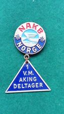 1955 Oslo World Luge Championships Competitor badge