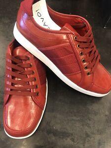 Bravo Travertine Men's Sneaker Low Top Red/White Sz 10