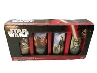 Star Wars  The Force Awakens Set Of 4 Collectible Glasses 10 oz.