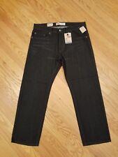 Boys NEW Levi's 505 Regular Fit Straight Leg Black Denim Jeans Sz 16 Husky 34x28
