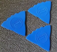 3 - Herdim Triple Sided Nylon Guitar Pick Blue - MADE IN GERMANY