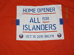 NEW YORK ISLANDERS HOME OPENER OCTOBER 16,2016 T-SHIRT NEW ALL FOR ISLANDERS