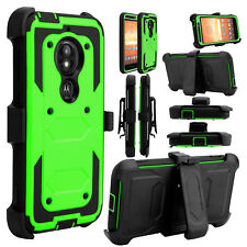 For Motorola Moto E5 Play/Cruise Hybrid Kickstand Rugged Armor Phone Case Cover