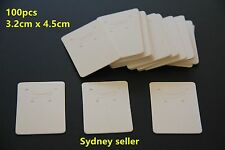 100p White Display Cardboard Card 3.2x4.5cm Earring Pendant Jewellery +4x6cm Bag
