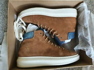 PENELOPE CHILVERS SUEDE HIGH TOP SNEAKER SHOES BOOTS, EU39 UK6 boxed.