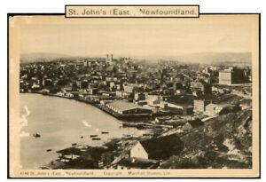 NEWFOUNDLAND ST. JOHN'S EAST POST-CONFEDERATION VIEW CARD