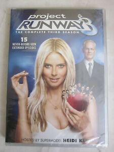 PV PROJECT RUNWAY THE COMPLETE 3 THIRD SEASON NEW 4 DISC DVD SET 3RD HEIDI KLUM