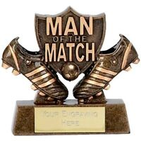FOOTBALL SOCCER MAN OF THE MATCH AWARD TROPHY ENGRAVED FREE BOOTS TROPHIES