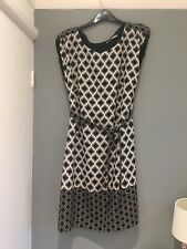 M&S Black And White Work Dress Size 12