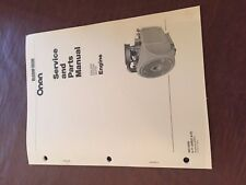 ONAN ENGINE TROUBLESHOOTING AND SERVICE MANUAL MODEL BF GENERATOR
