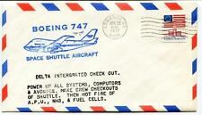 1977 Boeing 747 Space Shuttle Aircraft Delta Integratd Check Out Edwards USA