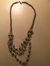 Hematite Necklace. White. Multi Strand. Helps Blood Flow And Arthritis