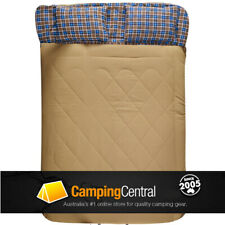OZTRAIL NULLARBOR  (-5cel.) DOUBLE SIZE TWO PERSON DUO SLEEPING BAG + PILLOWS