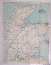 Central & Northern Scotland, 1933 Vintage Map, Bartholomew, Scotland  Atlas