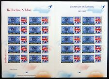 GB 2007 Scouts SMILERS Sheet with Thematica OPT 250 Produced NC381