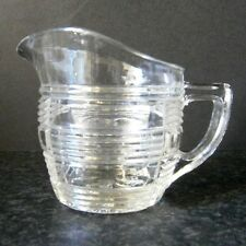 VINTAGE DEPRESSION GLASS CHECK PATTERN MILK JUG / CREAMER - THREE AVAILABLE