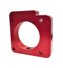 Torque Solution Throttle Body Spacer Red for 06-14 Subaru WRX / 04-15 STI