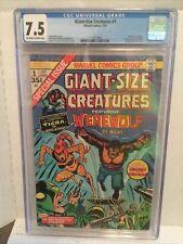 Giant Size Creatures # 1 CGC  Werewolf By Night. 7.5 Len Wein 1st App Tigra