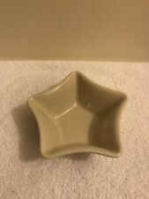 Longaberger Blue Woven Traditions Small Star Shaped Bowl Dish Votive Holder