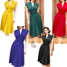 WHOLESALE BULK LOT 10 MIXED COLOUR SIZE 50'S Vintage Retro Dress dr043