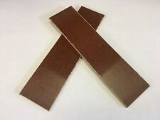 "MICARTA: Light Brown Canvas 1/8"" 6'' x 1.5"" Scales for Wood Working, KnifeMaking"