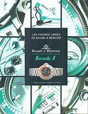 ▬► PUBLICITE ADVERTISING AD Montre Watch Baume & Mercier Formula S