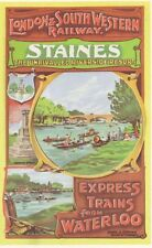 London South Western Railway Staines A3 Poster réimpression