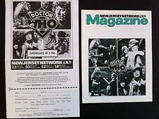 Dr Who Magazine & Promo Flyer From USA 1980's Tom Baker PBS,New Jersey Clipping