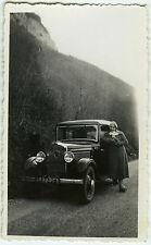 PHOTO ANCIENNE - VOITURE TRACTION PEUGEOT 201 - CAR WOMAN - Vintage Snapshot