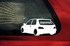 Slammed (or custom text) LOW Peugeot 106 Rallye lowered Sticker, Decal