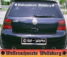 AUTO AUFKLEBER WAFFENSCHMIEDE WOLFSBURG IRON CROSS NEU - CAR TUNING STICKER NEU