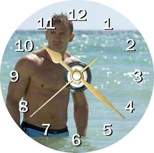 Daniel Craig Novelty Cd Clock Can be personalised