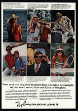 1978 RAY-BAN Sunglasses - Bausch & Lomb - Sports - VINTAGE AD