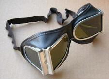 Kuriose alte Staubschutz - oder Fliegerbrille aus Leder