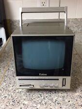 Eaton Deluxe Portable 5-inch Black & White TV with AM/FM Radio