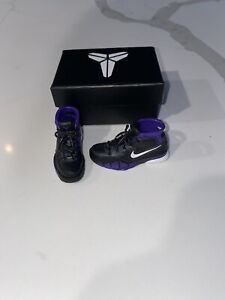 NEW 1/6 Custom Lakers Kobe Bryant 1 Protro Uptempo Purple Shoes for ENTERBAY