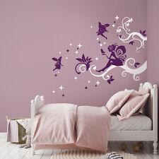 01439 Wall Stickers Adesivi Murali Fatine sui riccioli magici 125x110 cm