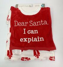 "Koala Baby Christmas 2 Pack Pullover Bibs ""Dear Santa I can Explain""  NEW"