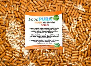 60 X Turmeric and Bioperine Capsules 600mg Tumeric Curcumin Vegan/Vegetarian