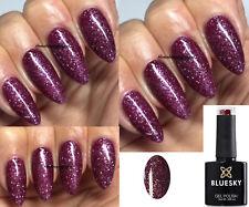 BLUESKY MULLED WINE CS029 CHRISTMAS GLITTER NAIL GEL POLISH LED UV SOAK OFF