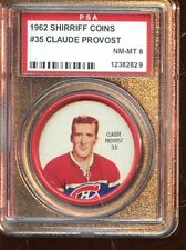 1962 Shirriff Hockey Coin #35 Claude Provost PSA 8 NM/MT