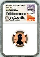2019-W 1C Reverse Proof Lincoln Cent NGC PF70 RD First Day of Issue Lyndall Bass