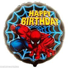 Birthday, Child Spider-Man Round Party Foil Balloons