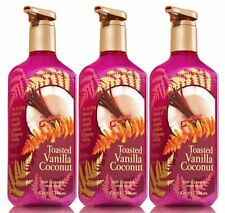 3 Bath & Body Works TOASTED VANILLA COCONUT Deep Cleansing Hand Soap