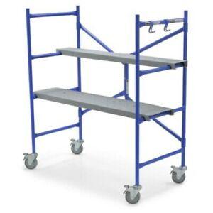 Portable Scaffold Rolling 500 lbs Steel Non Marring Wheels Lock Plank Adjustable