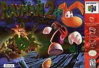 ✅ Rayman 2 The Great Escape Nintendo 64 N64 Video Game Super Fun Retro Rare ✅