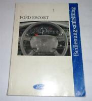 Operating Instructions Manual Ford Escort Stand 06/1996